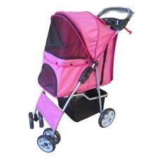 Équipements de transport roses en tissu pour chien