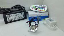 FARETTI LED 3W RGB IP20 kit 1   completo di centralina RGB + alimentatore