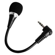 Quality 3.5mm Desktop Studio Small Mobile Phone Microphone Mic Mini Black Plug