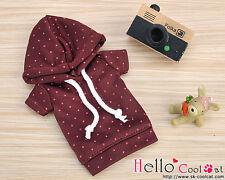☆╮Cool Cat╭☆226.【NP-A16】Blythe/Pullip Hoodie Top(Short Sleeves)# Dot Crimson