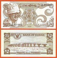 P16   Sudan  25  Piaster  1981  UNC