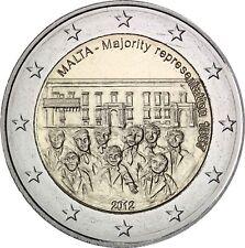 Malta 2 euros 2012 introducción del Mehrheitswahlrechts 1887 estampado fresco