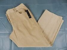 new WOMANS PANTS = LARRY LEVINE PETITE short tan pants = SIZE 16P = KN69