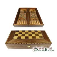 Neu 40 x 40  cm, Holz Backgammon-Schach,Dama,Brett,oder Figuren oder Steine