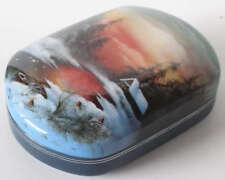 Russian Art Fedoskino Lacquer Miniature Box F201