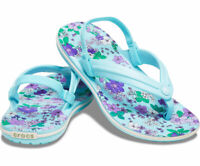 Kids' Crocs Crocband™ Floral Strap Flips, Sizes C10, C11, C12, New With Tags