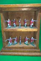 Vintage Lead  Soldiers on solid wood  display box.