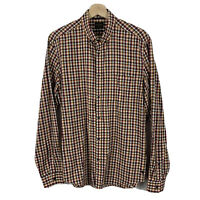 Industrie Mens Button Up Shirt Size Medium Check Long Sleeve Good Condition