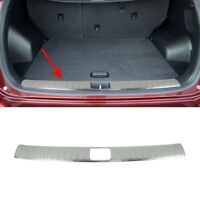 2015-2017 Hyundai Tucson Chrome Inner Chrome Rear Bumper Sill Protector S.Steel