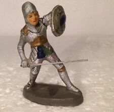 Vintage, avant guerre, elastolin medieval soldat, (my ref ou 133) made in germany