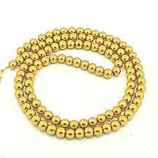100 Piece Glass Wax Beads 8 MM Gold Metallic Glazed Glass Beads