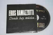 Eros Ramazzotti – Donde Hay Música. CD-SINGLE PROMO