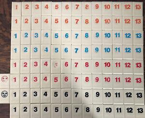 Original Rummikub Set 106 Replacement Tiles Replacement