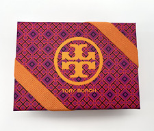 NEW TORY BURCH Small Pink Red Gift Box Storage Orange Logo Ribbon 5.5 x 4 x 2