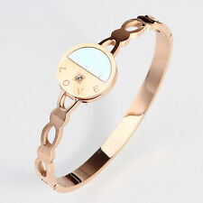 18k Rose Gold Plated 316L Stainless Steel Shell Bangle