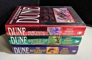 BRIAN HERBERT Legends of Dune Series HC 1st Ed Butlerian Jihad Machine Crusade