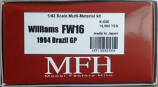 Model Factory Hiro 1/43 Williams FW16 Ver.A Fulldetail Kit w/ Option Decal K-535