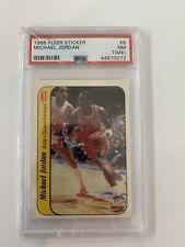 1986-87 Fleer Michael Jordan ROOKIE Sticker #8 GRADED RC PSA 7(MK) NR-MT