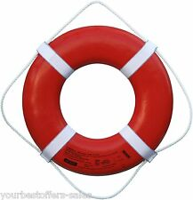 Ring Buoy Orange USCG Approved Life Ring Beach Equipment Plastic Boat Equipment