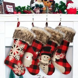 CLEARANCE Christmas Stocking, Farmhouse Christmas Stockings