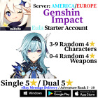 [America/NA/Europe/EU/Asia/AS] Genshin Impact Eula Starter Account