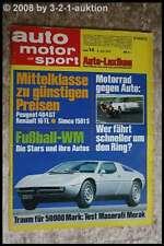 AMS Auto Motor Sport 14/74 Peugeot 404 Maserati Merak Citroen GS Birotor
