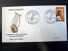 MADAGASCAR  407  PREMIER JOUR FDC    POETE RABEARIVELO     40F      1965