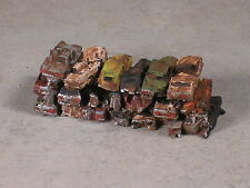 N Scale Stack of Rusted Out Automobiles for Junk Yards