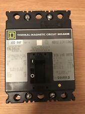 SQUARE D FAL34100 MCB. 100Amp 480vac 250vdc.