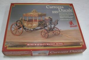 "Amati ""Carrozza Ducale"" 1819 Egyptian Carriage 1:24 NEVER ASSEMBLED"