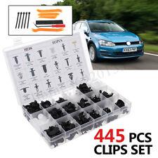 415PCS Plastic Rivets Fastener Fender Bumper Push Pin Clips Free Remover Tool US