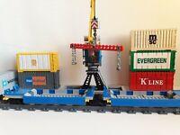 Lego City Custom double container train car MOC sets 10219 60098 60052 7939 7898