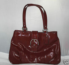 NWT Coach Soho Patent Leather Carryall Crimson Below $378 Retail F19711 SOLD OUT