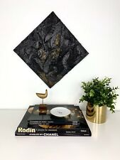 Modern Original Abstract Gold Black Magic Painting Heavy Texture Gallery Artist