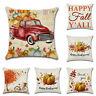 Pillow Rustic Thanksgiving Decor Cover Art Home Fall Cushion Sofa Case Autumn