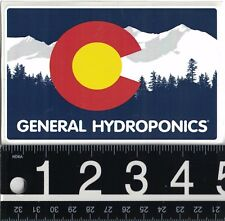 GENERAL HYDROPONICS STICKER General Hydro Grow Weed Bud 4.75 in x 3 in CO Decal