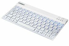 NEW Orbo Wireless Backlit Ultra Slim Keyboard Bluetooth 3.0 Easy Pairing - WHITE