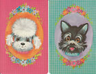 Vintage Swap / Playing Card - 2 SINGLE- CUTE POODLE AND TERRIER HEAD