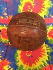 Mark cross,antique Leather Football Soccer ball 18 panel made in England