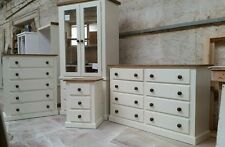 SHAFTESBURY RANGE FURNITURE 4 PIECE BEDROOM SET CREAM WITH JACOBEAN WAX TRIMS