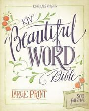 KJV, Beautiful Word Bible, Large Print, Hardcover, Red Letter Edition: 5 .. NEW