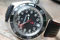 Vostok Komandirskie Automatic Russian watch Premium Leather Strap 650541-L1