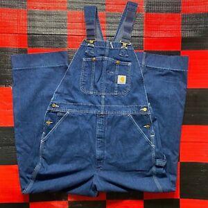 Vintage Carhartt Denim Overalls Size 19x30