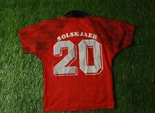 MANCHESTER UNITED SOLSKJAER 1996/1998 FOOTBALL SHIRT JERSEY HOME UMBRO ORIGINAL
