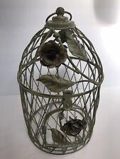 Vintage Metal Decorative Bird Cage Flower And Vine Design.