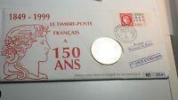 Enveloppe 1er jour Le Timbre Poste Français A 150 ans - Médaille