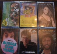 FACTORY SEALED !! YOU PICK 35 titles Cassette tapes ELVIS REO MARIAH BEACH BOYS