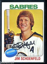 Jim Schoenfeld signed autographed Auto 1975-76 Topps card #138 Sabres