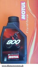 12 X Motul 800 Off Road Racing VOLLSYNTHETISCH Motorenöl Factory Ester