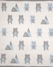 Barry Bear Baby Cot Pram Blanket Wrap Indus Design Baby Shower Newborn Gift